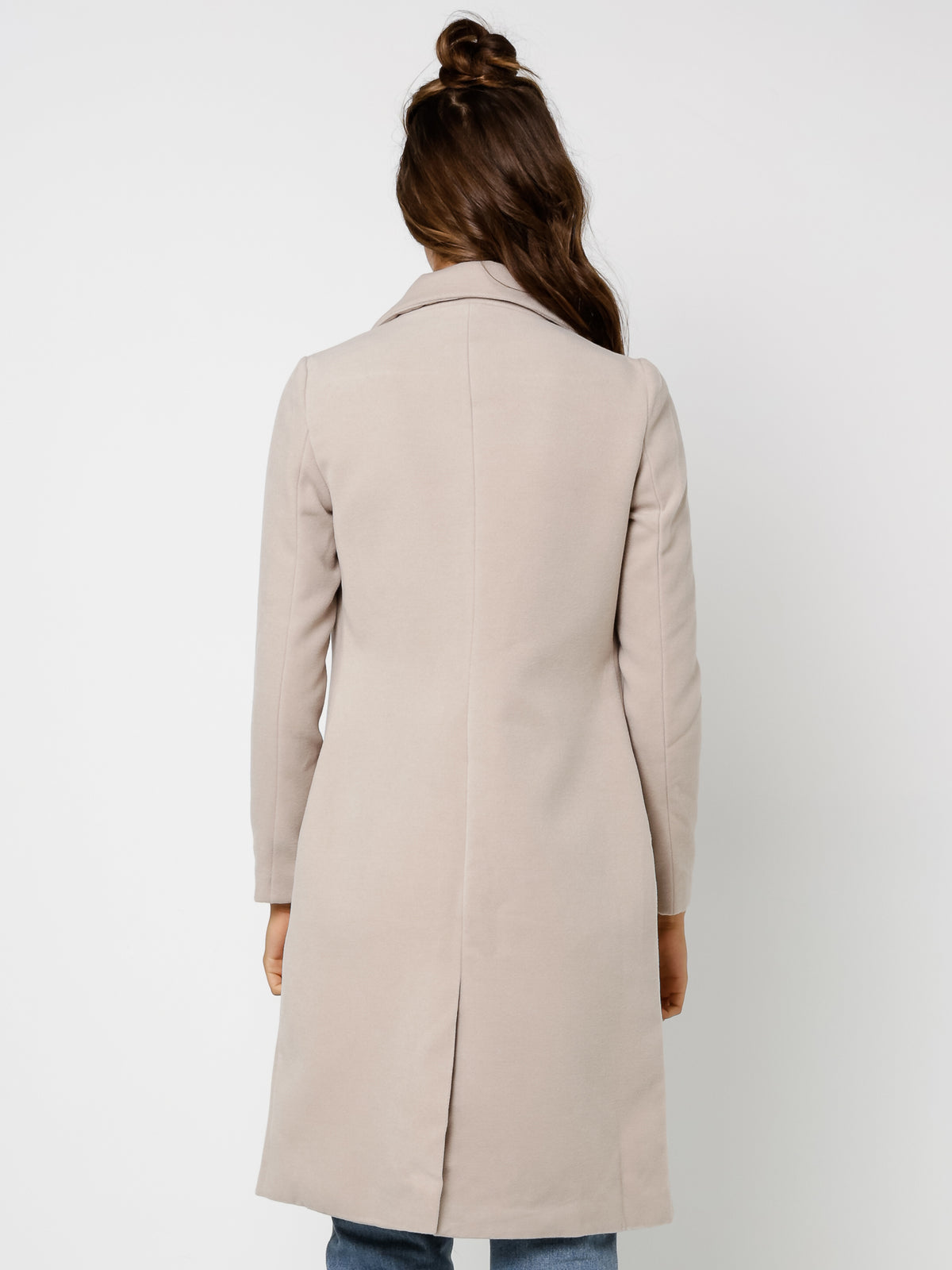 Carol Long Coat in Sand