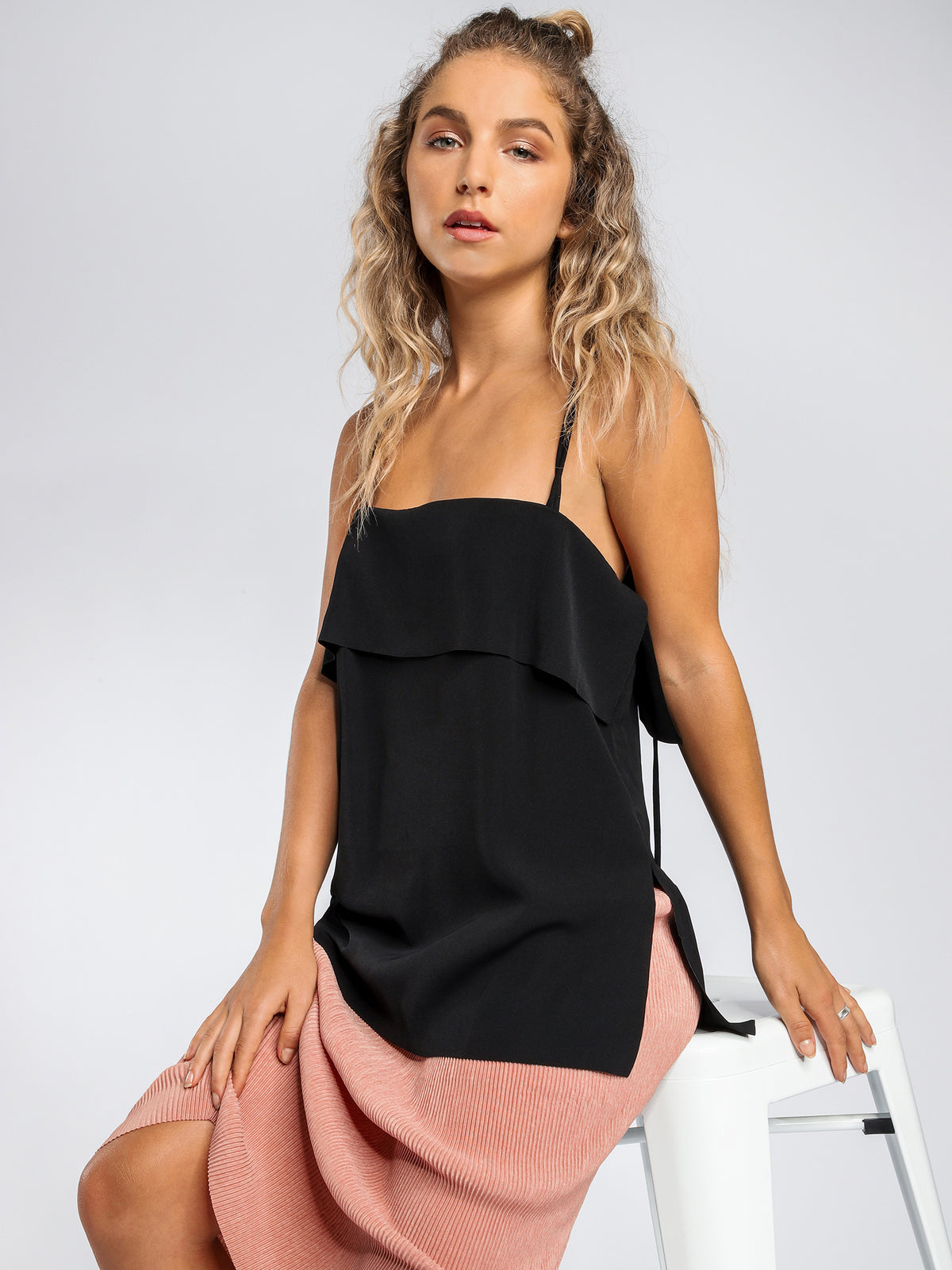 Bailey Double Strap Cami in Black