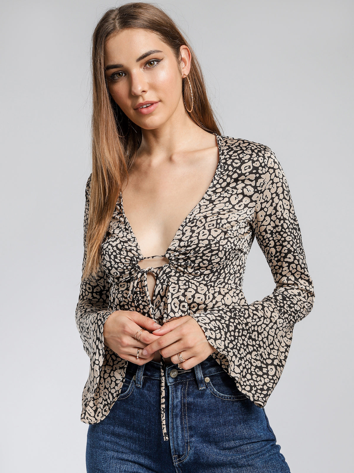 Carmen Top in Jungle Leopard Print