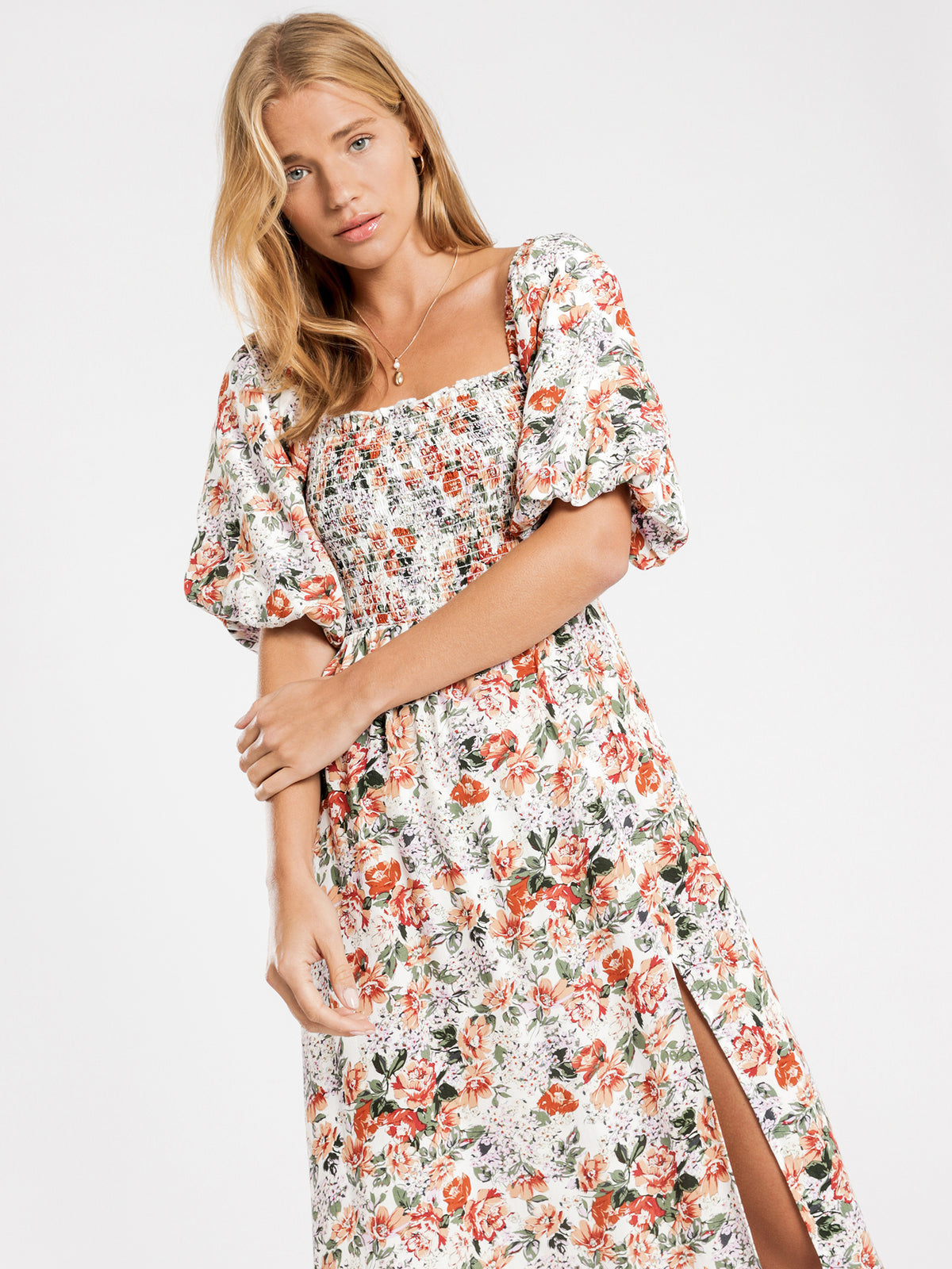 Cruz Midi Dress in Vintage Floral Print