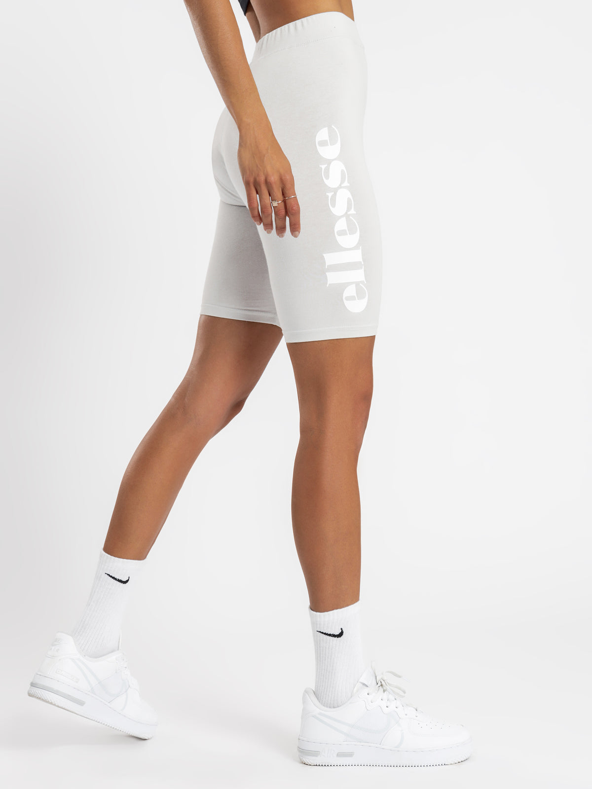 Tour Cycle Shorts in Light Grey