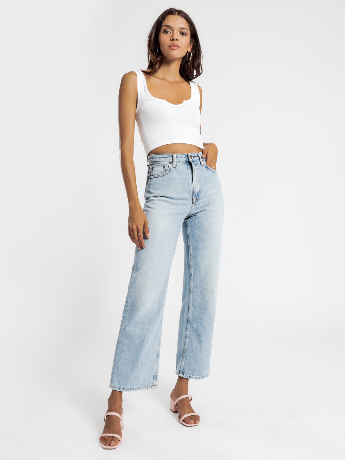 Clean Eileen Jeans in Light Stone