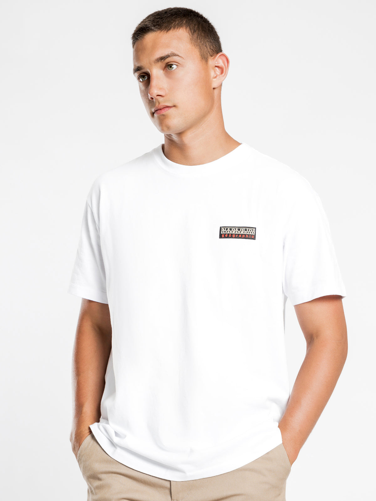 Sase Short Sleeve T-Shirt in White