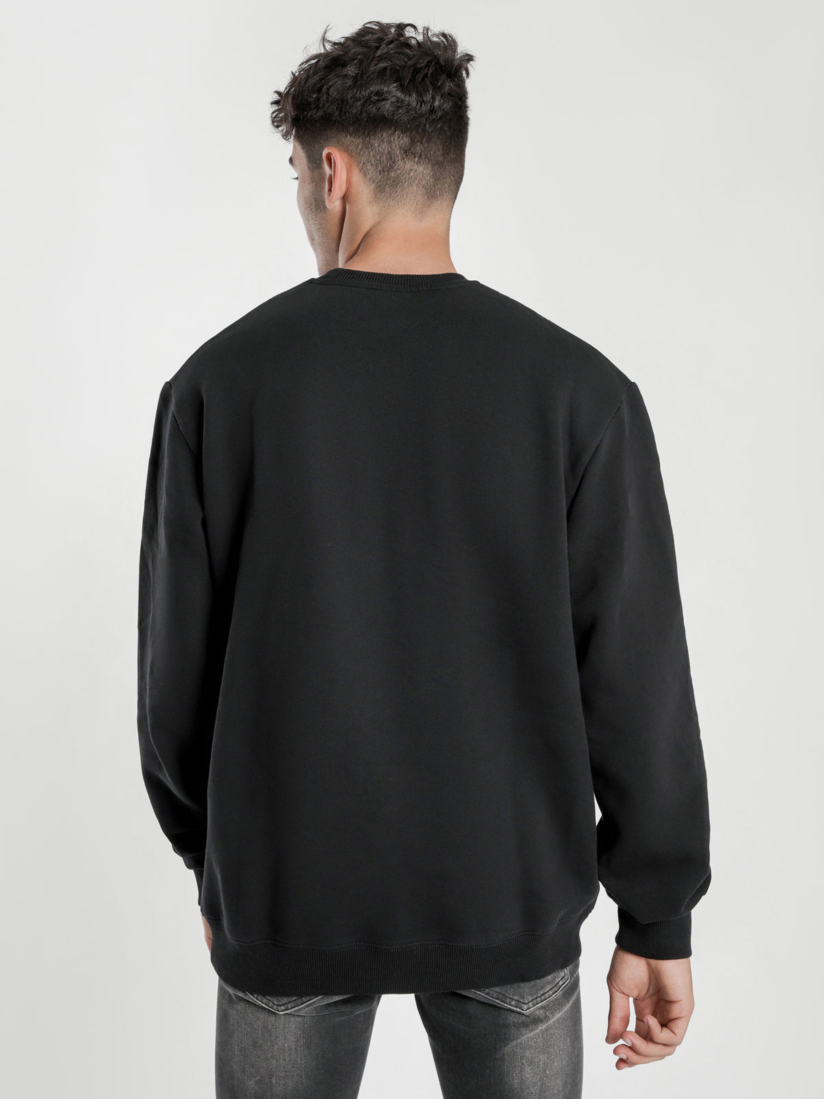 Box Crew Jumper in Black