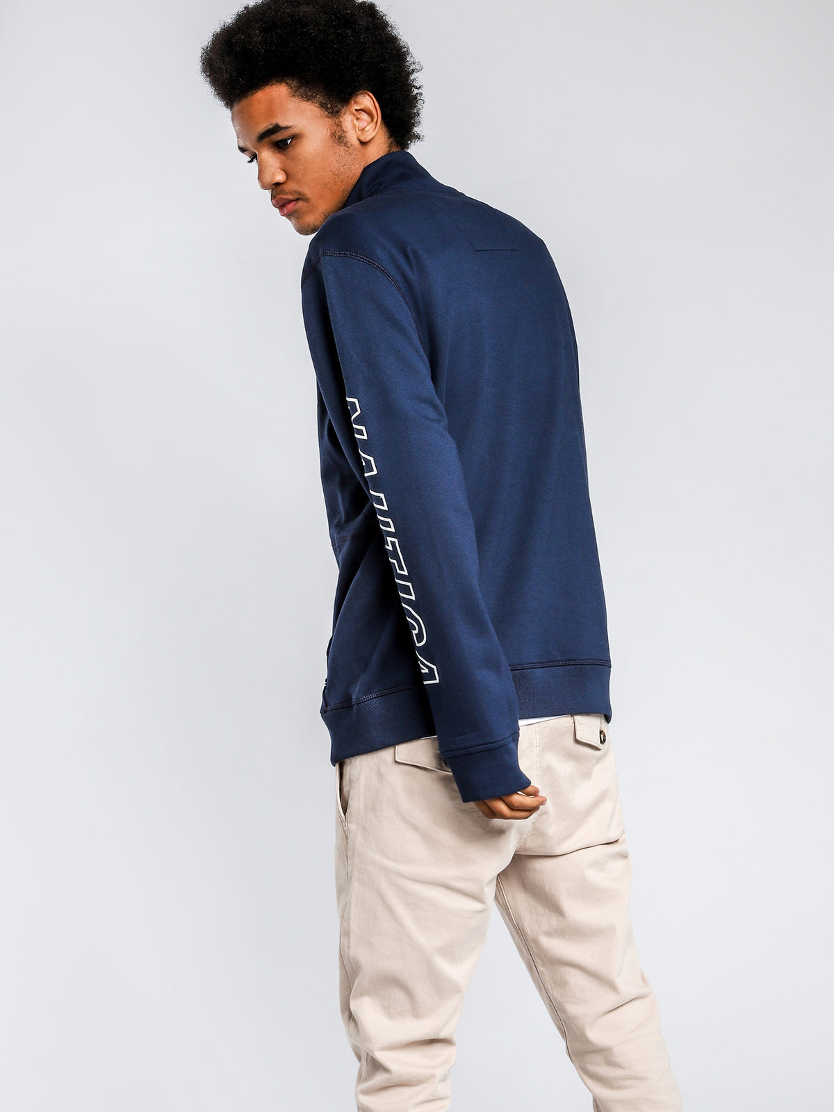 Blue Water Challenge Sweater in Navy Blue
