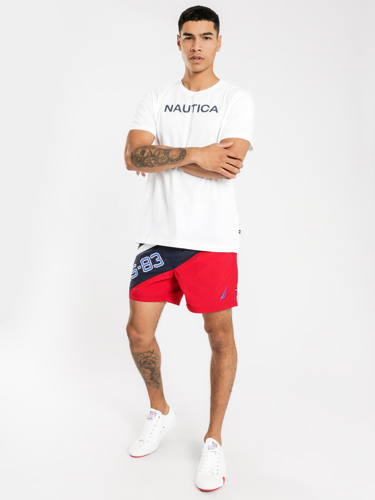 Flags Short Sleeve T-Shirt in White