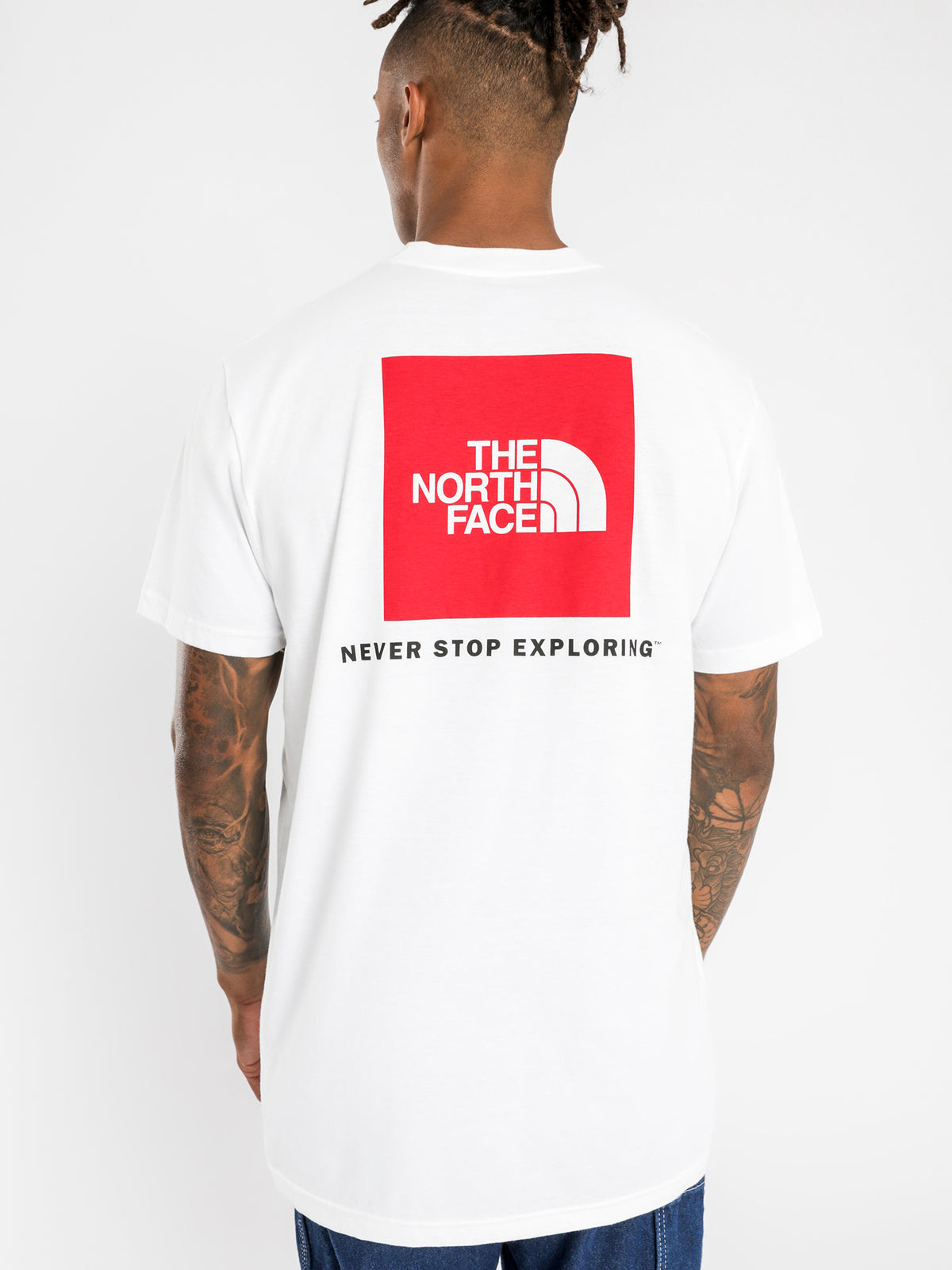 Red Box Short Sleeve T-Shirt in White