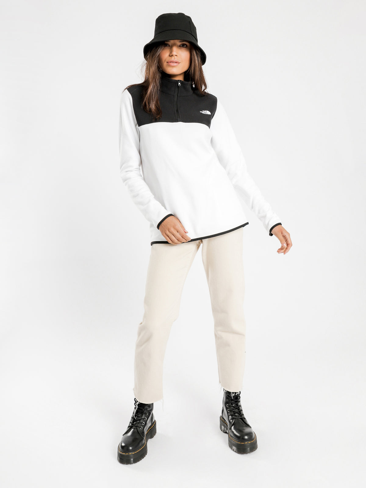 TKA Glacier 1/4 Zip Pullover in White