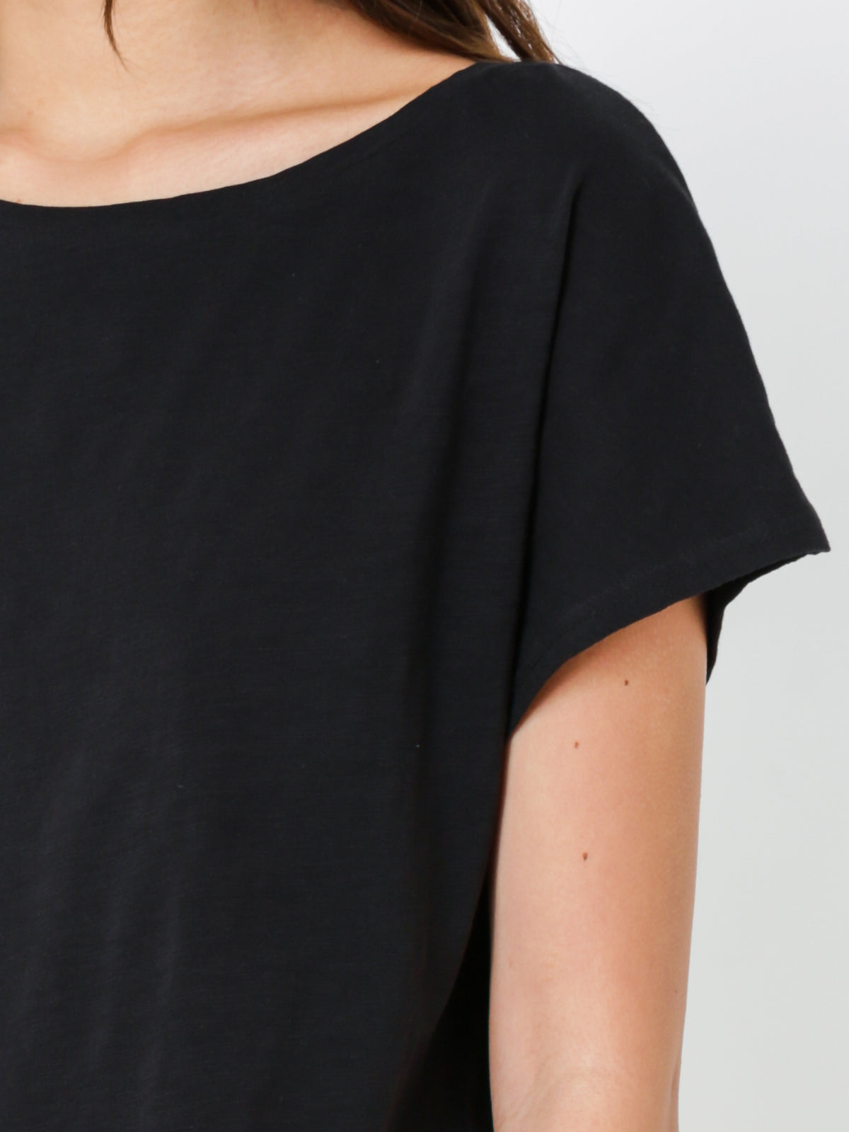 Kirkwood Crop T-Shirt in Black