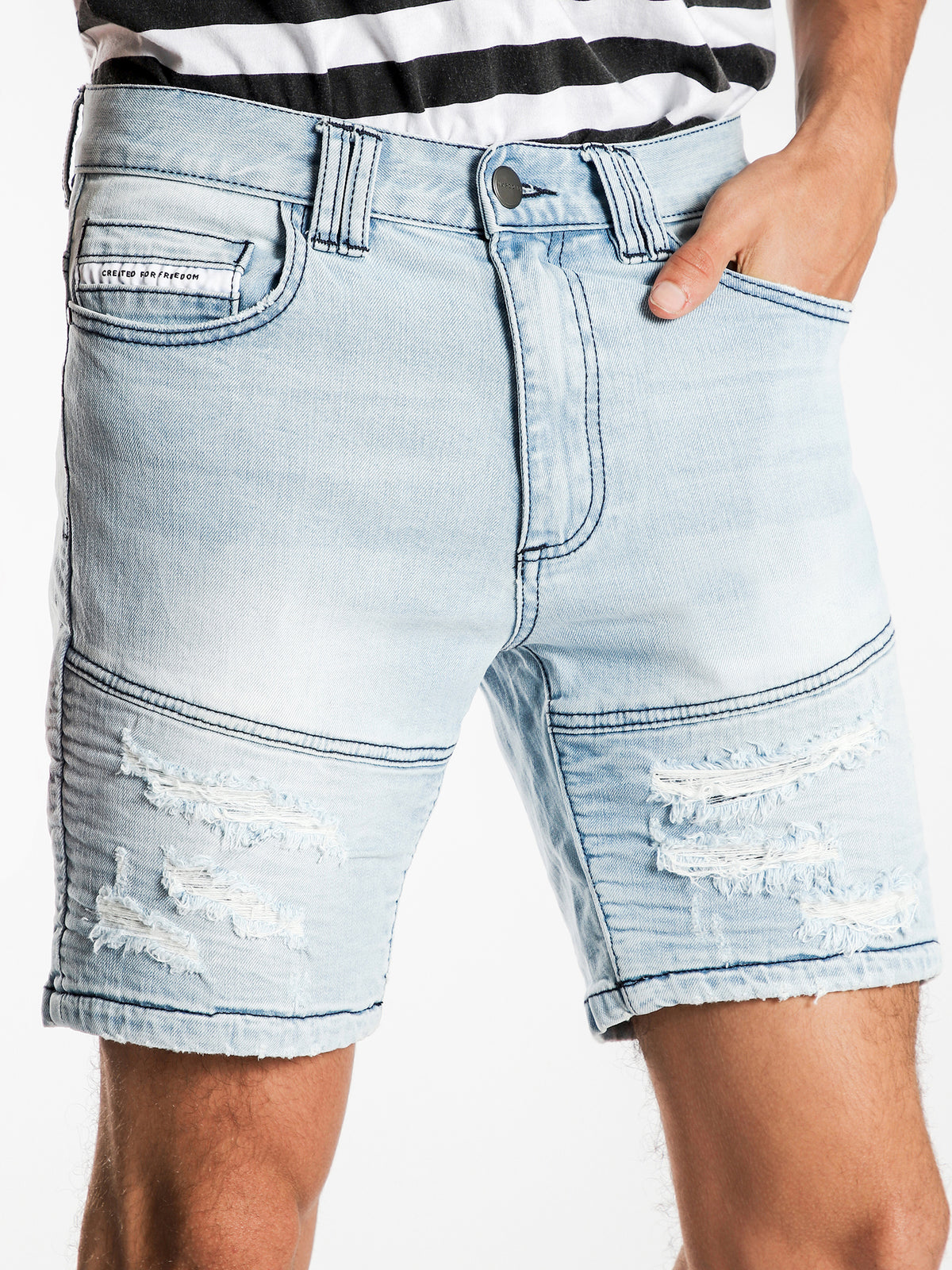 Combination Shorts in Indianapolis Blue Denim