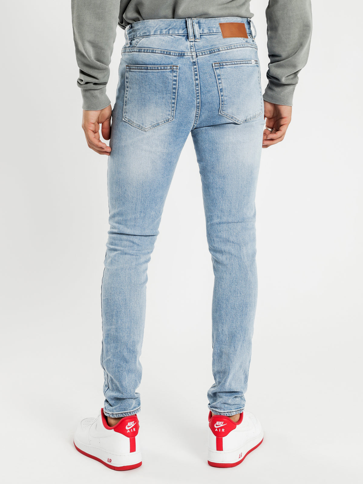 Flynn 5-Pocket Skinny Jeans in Havana Blue Denim