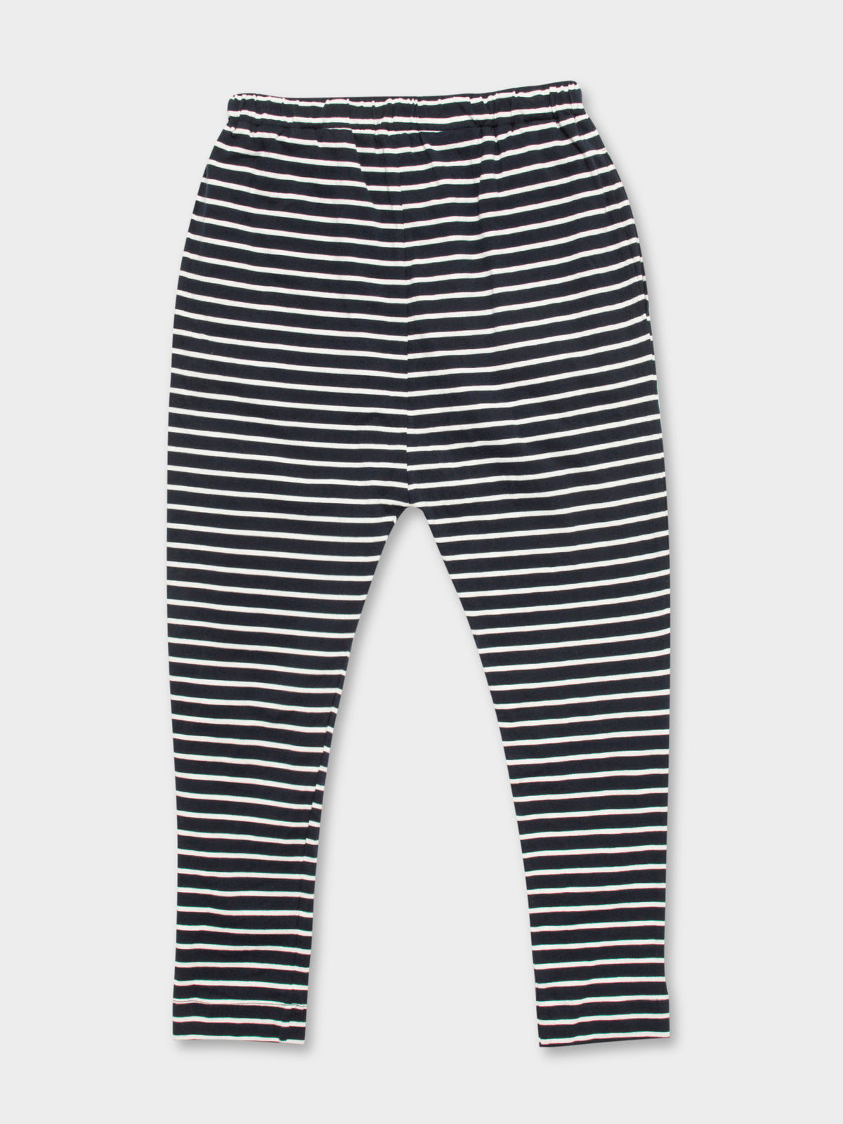 Finn Jersey Pant in Navy Stripe