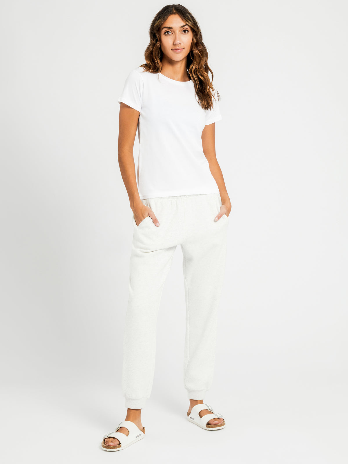 Harper Basic Crew T-Shirt in White