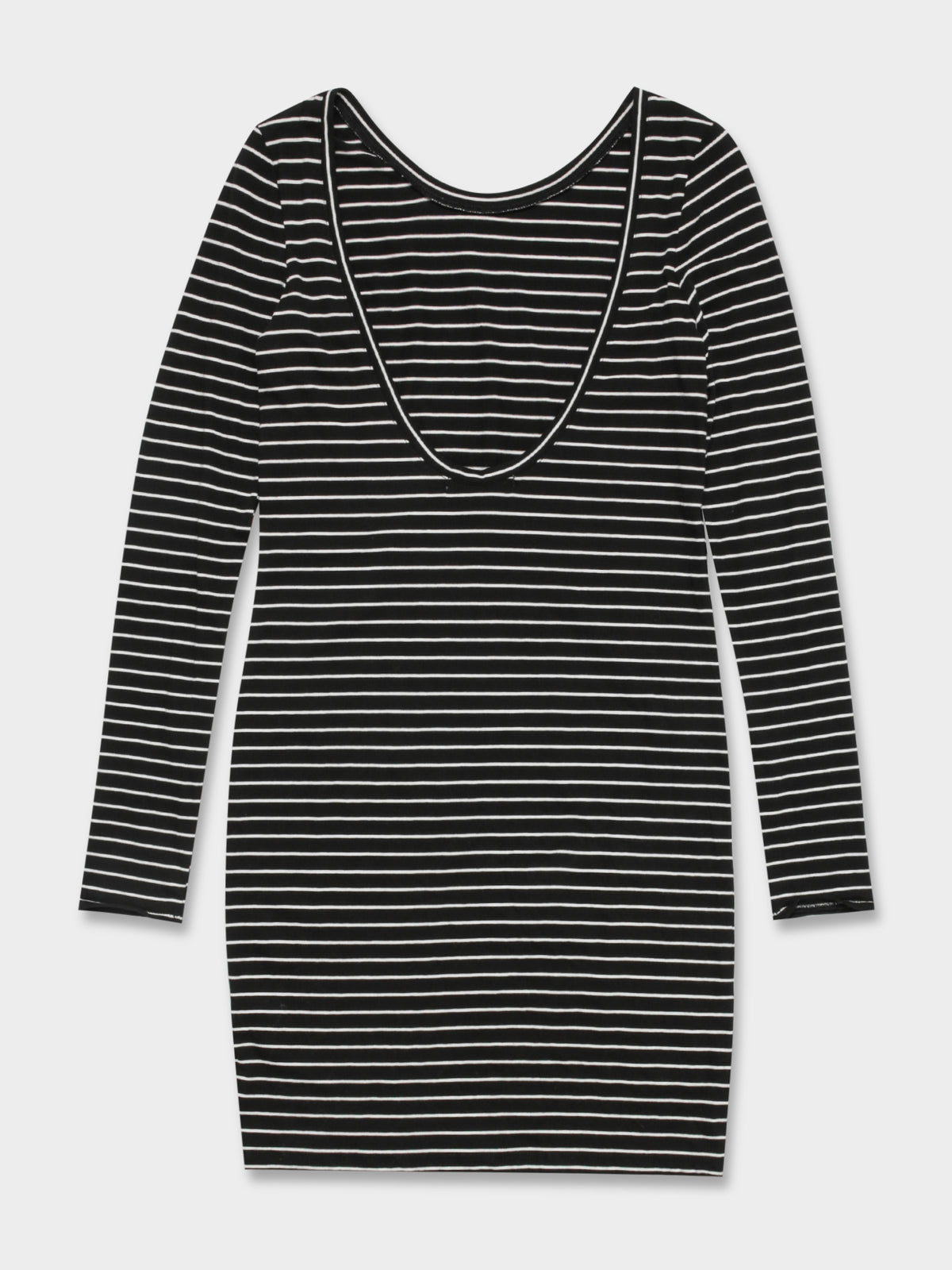 Holbrook Scoop Back Dress in Stripe