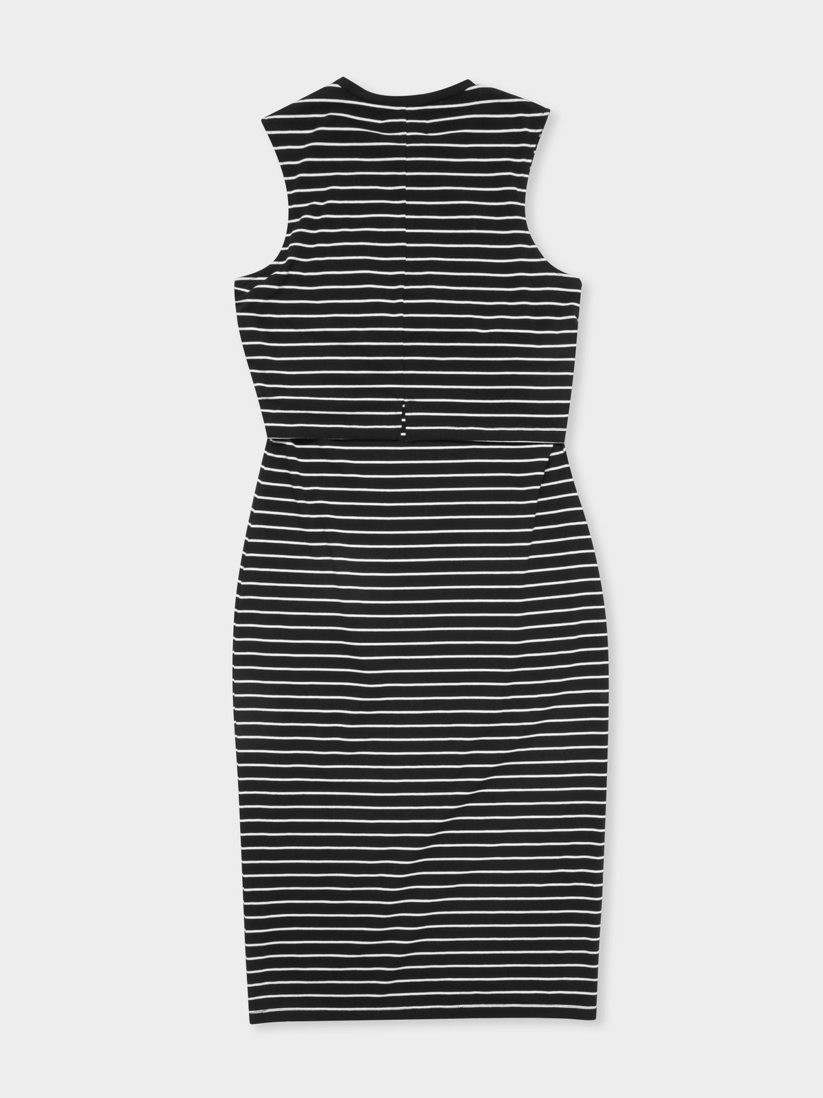 Vermont Double Layered Dress in Stripe