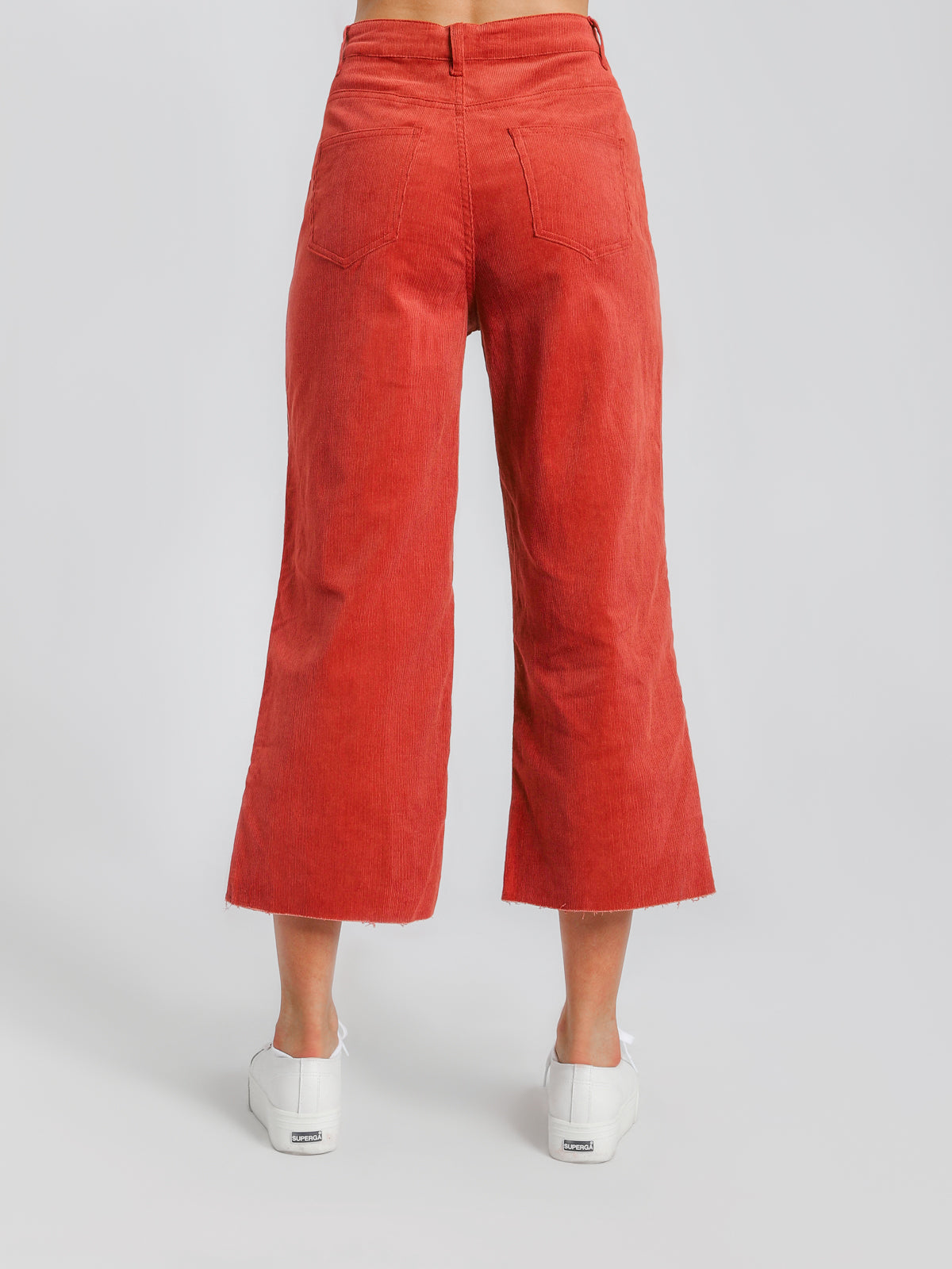 Paige Baby Cord Jeans in Sienna Red