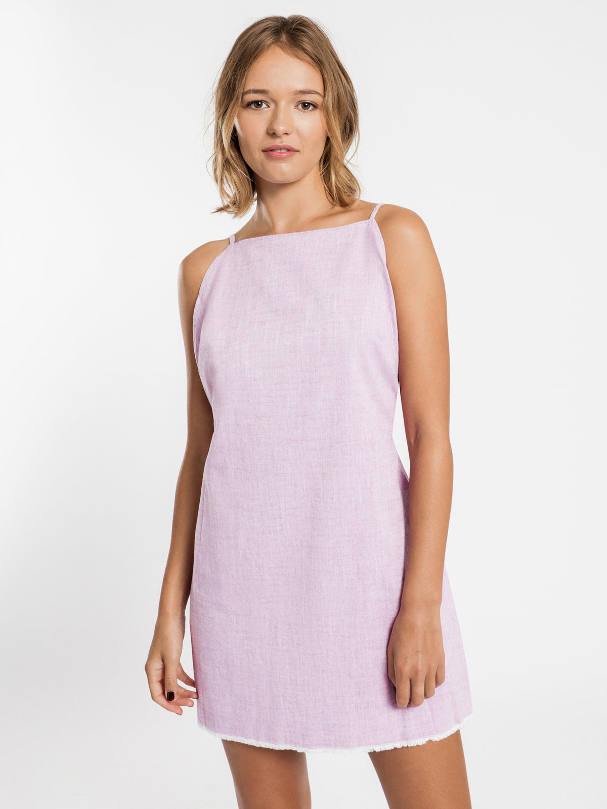 Electra Woven Textured Dress in Violet