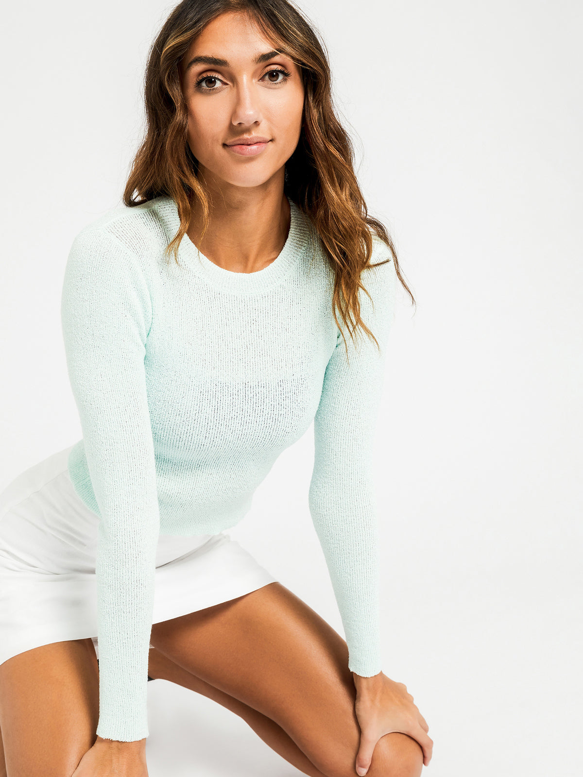 Regan Fitted Knit in Mint