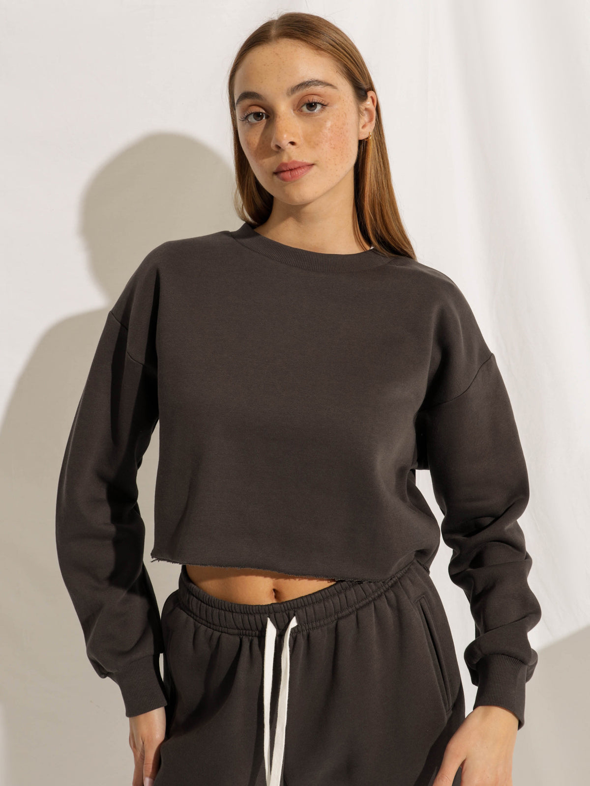 Carter Classic Crop Sweater in Coal
