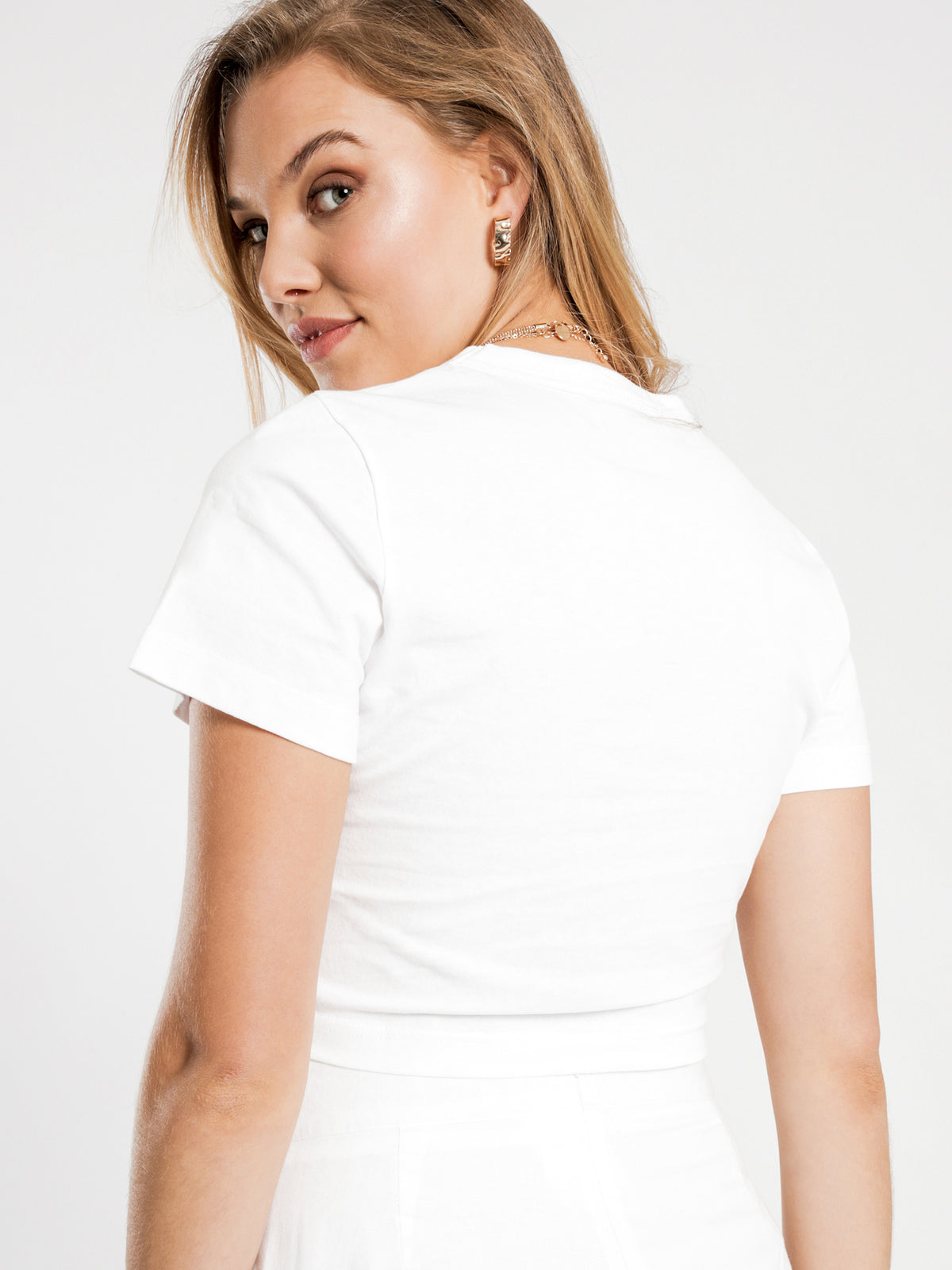 Brea Drawstring T-Shirt in White