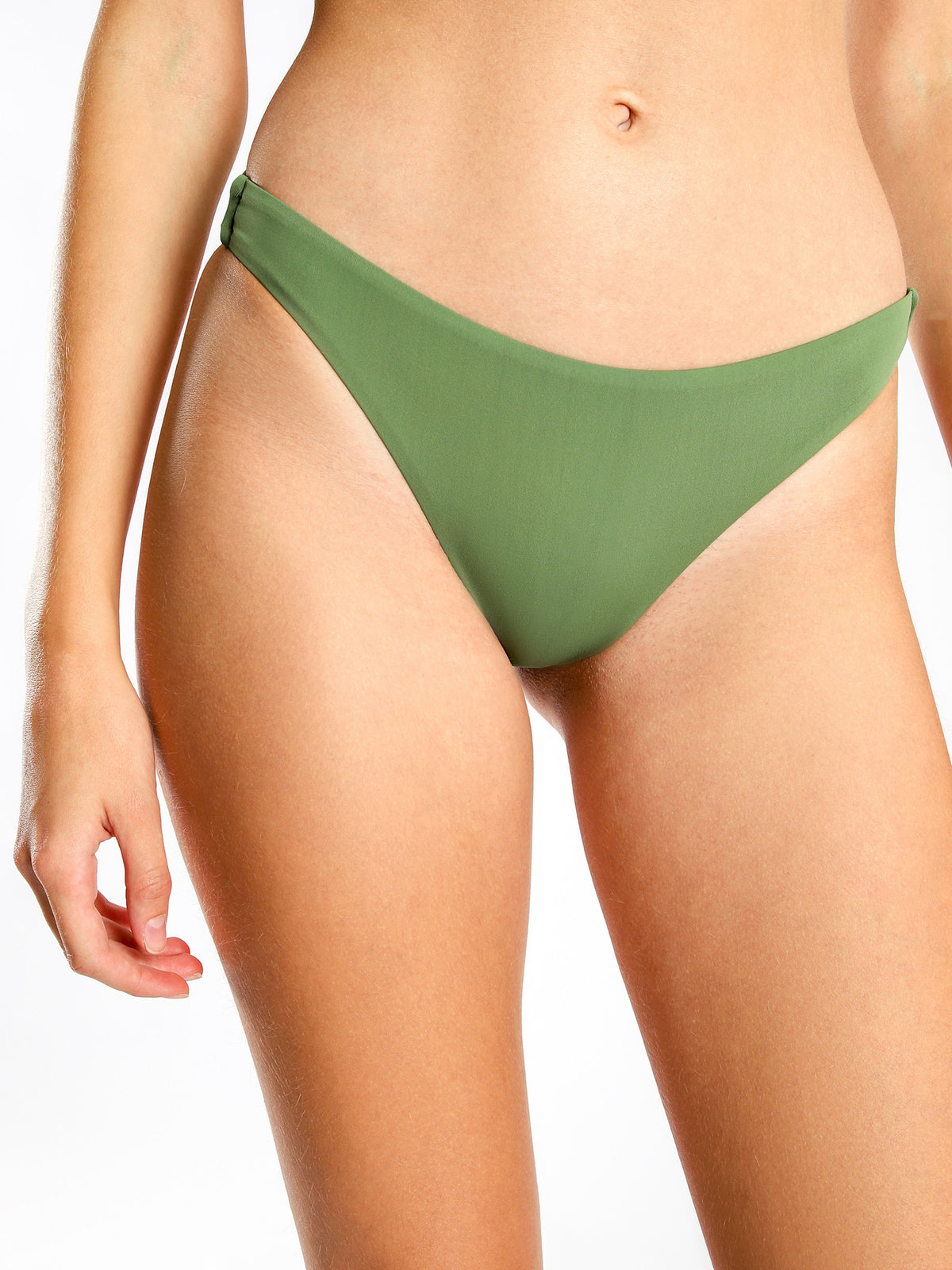 Cheeky Bikini Briefs in Khaki Green
