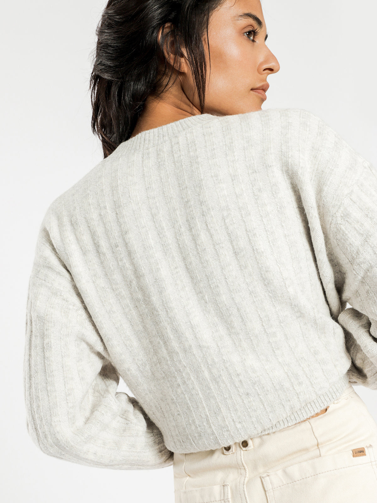 Madison Knit Jumper in Grey