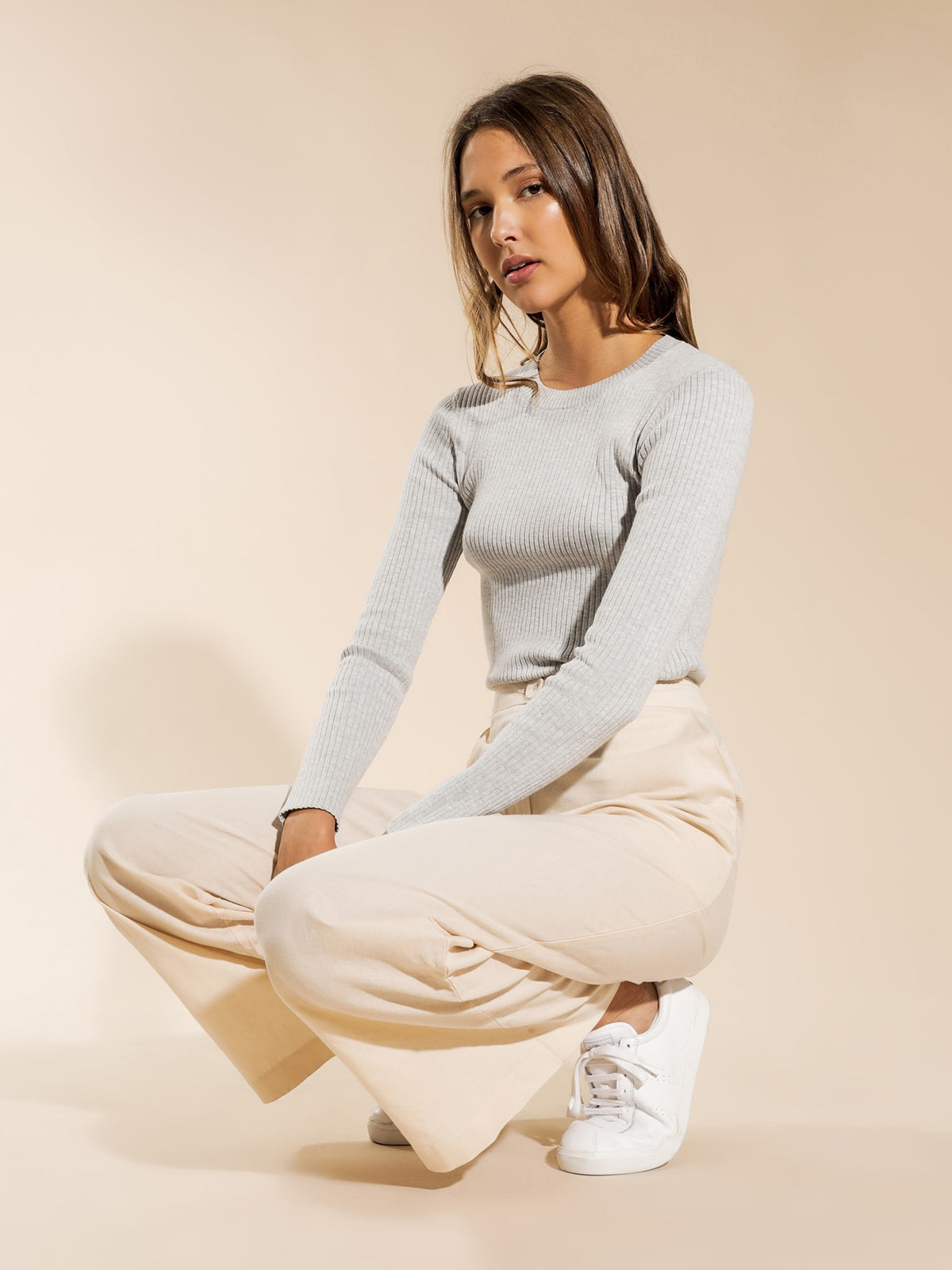 Classic Knit in Grey Marle