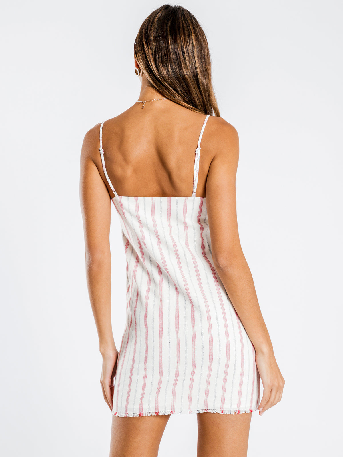 Matilda Dress in Red Stripe