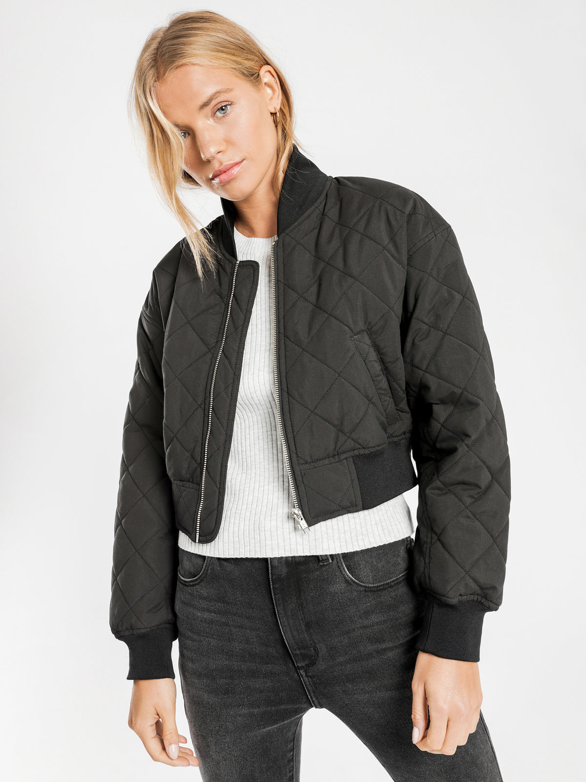 Classic Bomber Jacket in Black