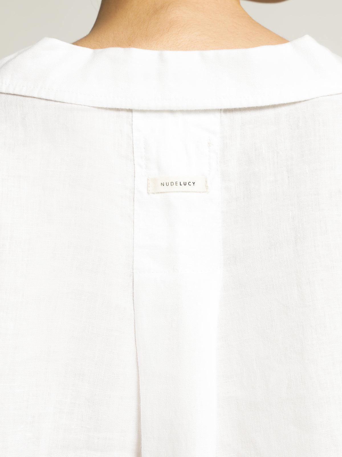 Linen Lounge Shirt in White
