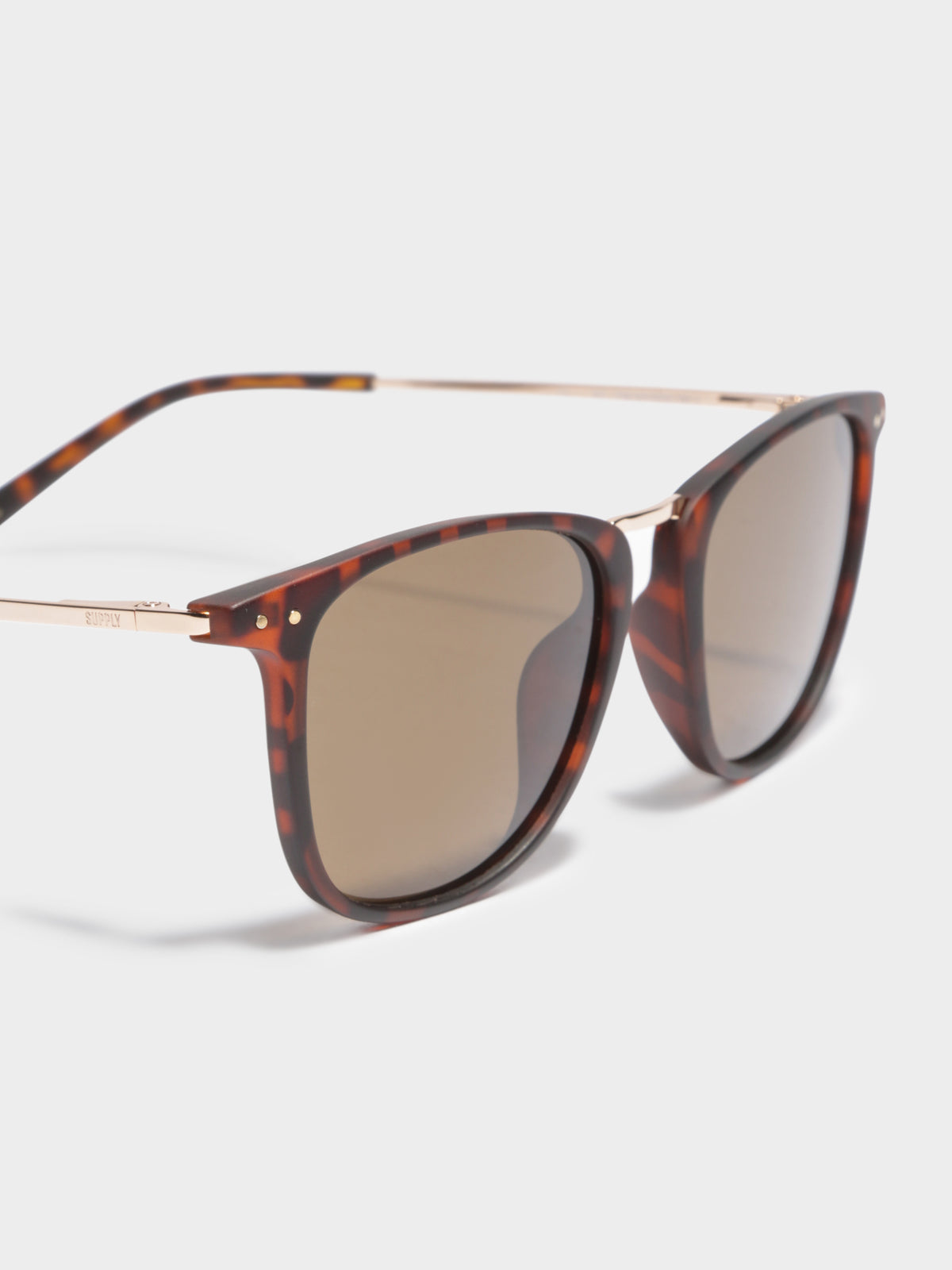 NYC Polarized Sunglasses in Tortoise Shell Brown