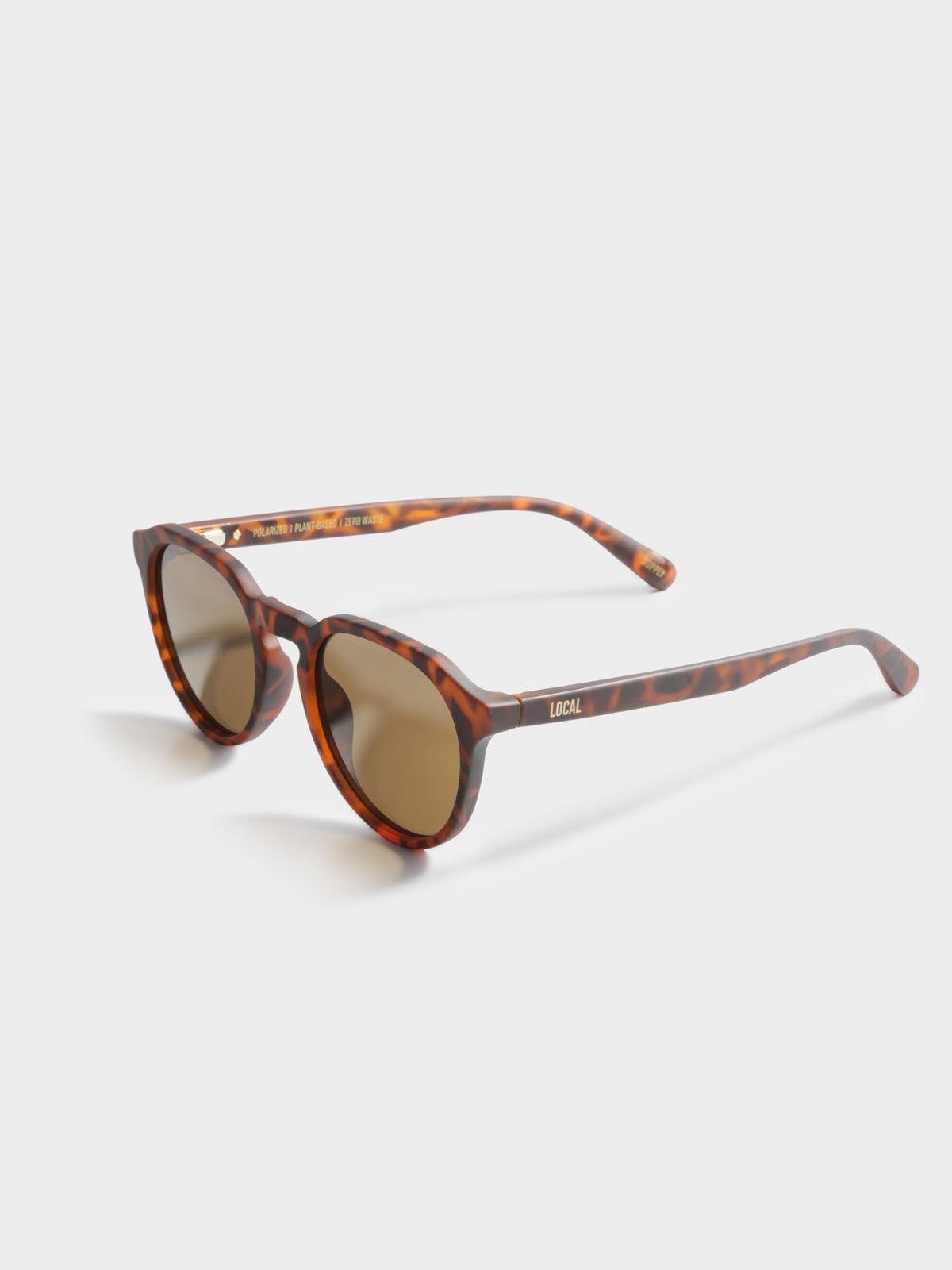 TYO Polarised Sunglasses in Matte Tortoiseshell & Dark Brown