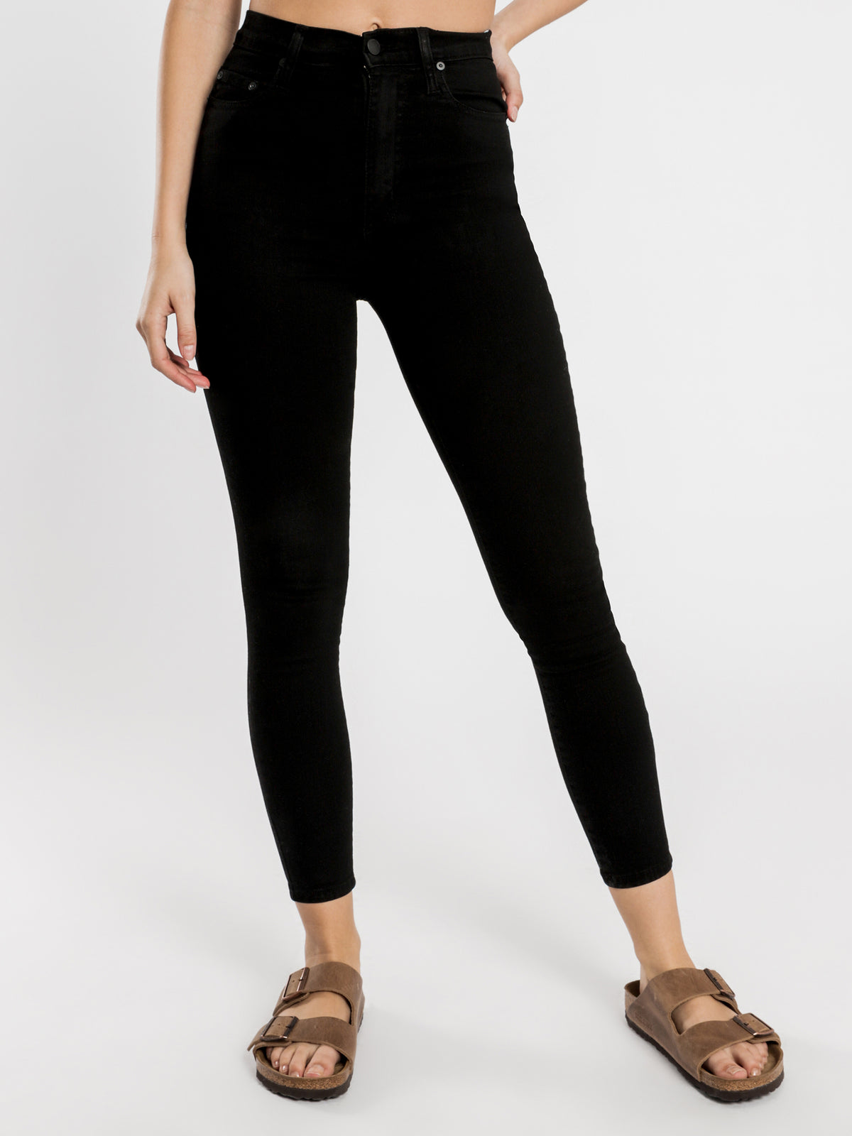 Siren Skinny Ankle Jeans in Power Black