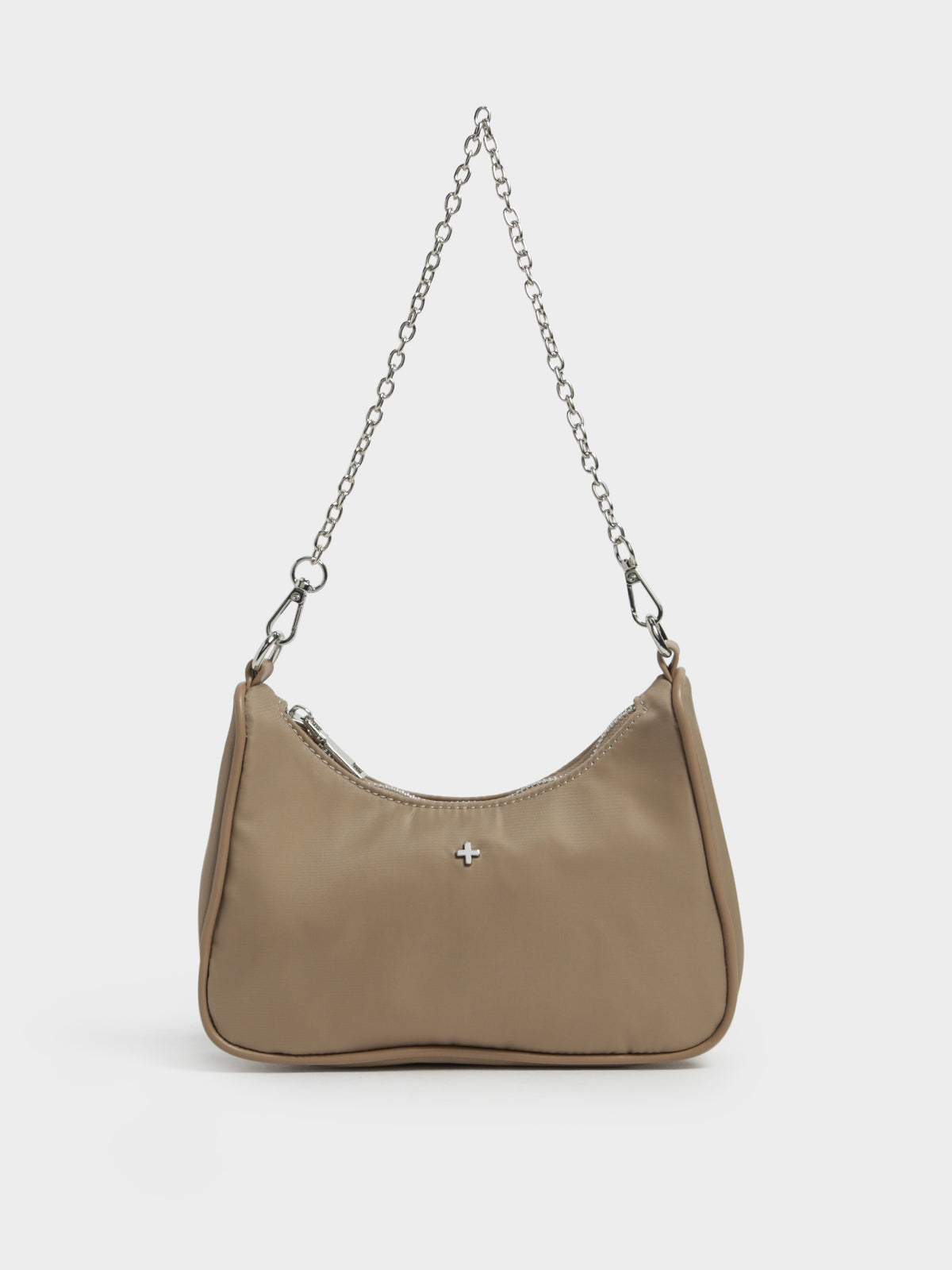 Paloma Cross Body Nylon Bag in Brown