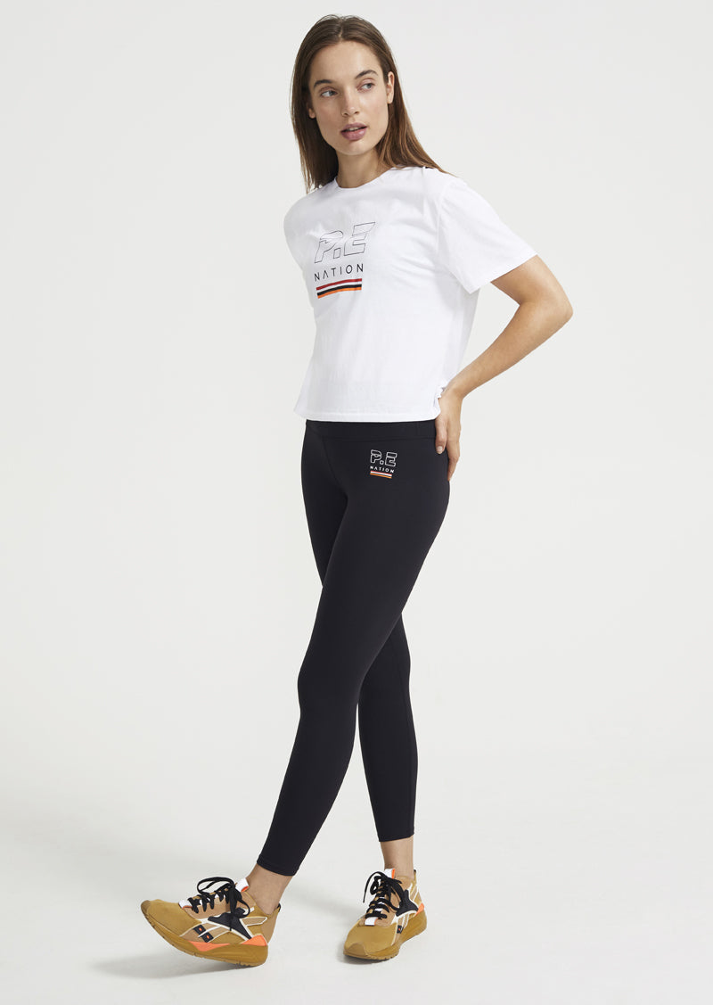 Ignition Cropped T-Shirt in White