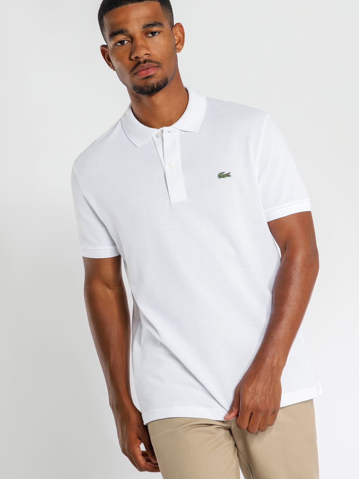 Basic Polo Shirt in White