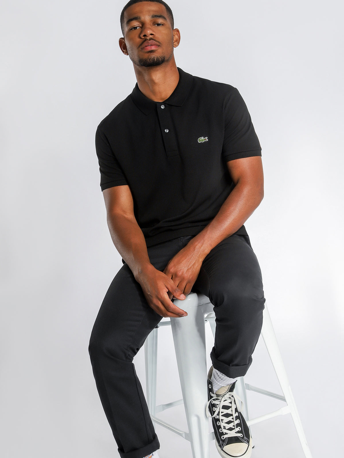 Basic Polo Shirt in Black