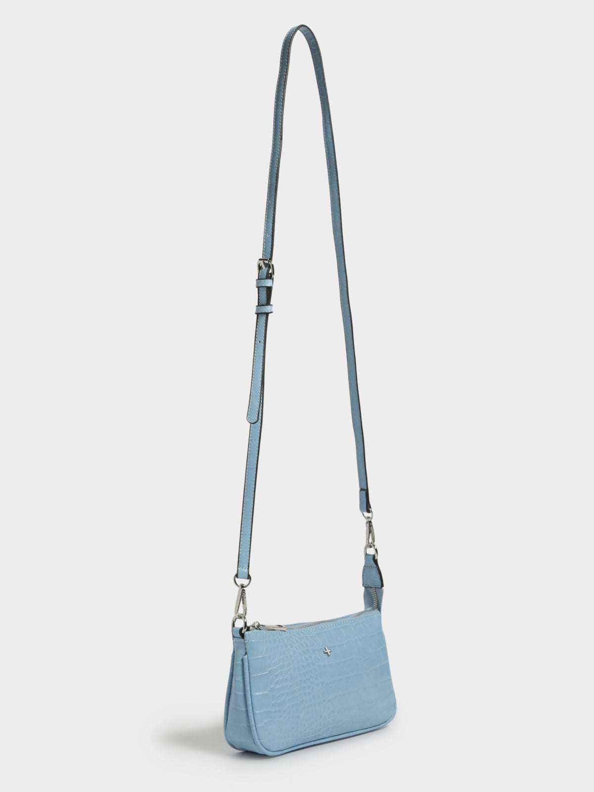 Reign Bag in Pastel Blue Croc
