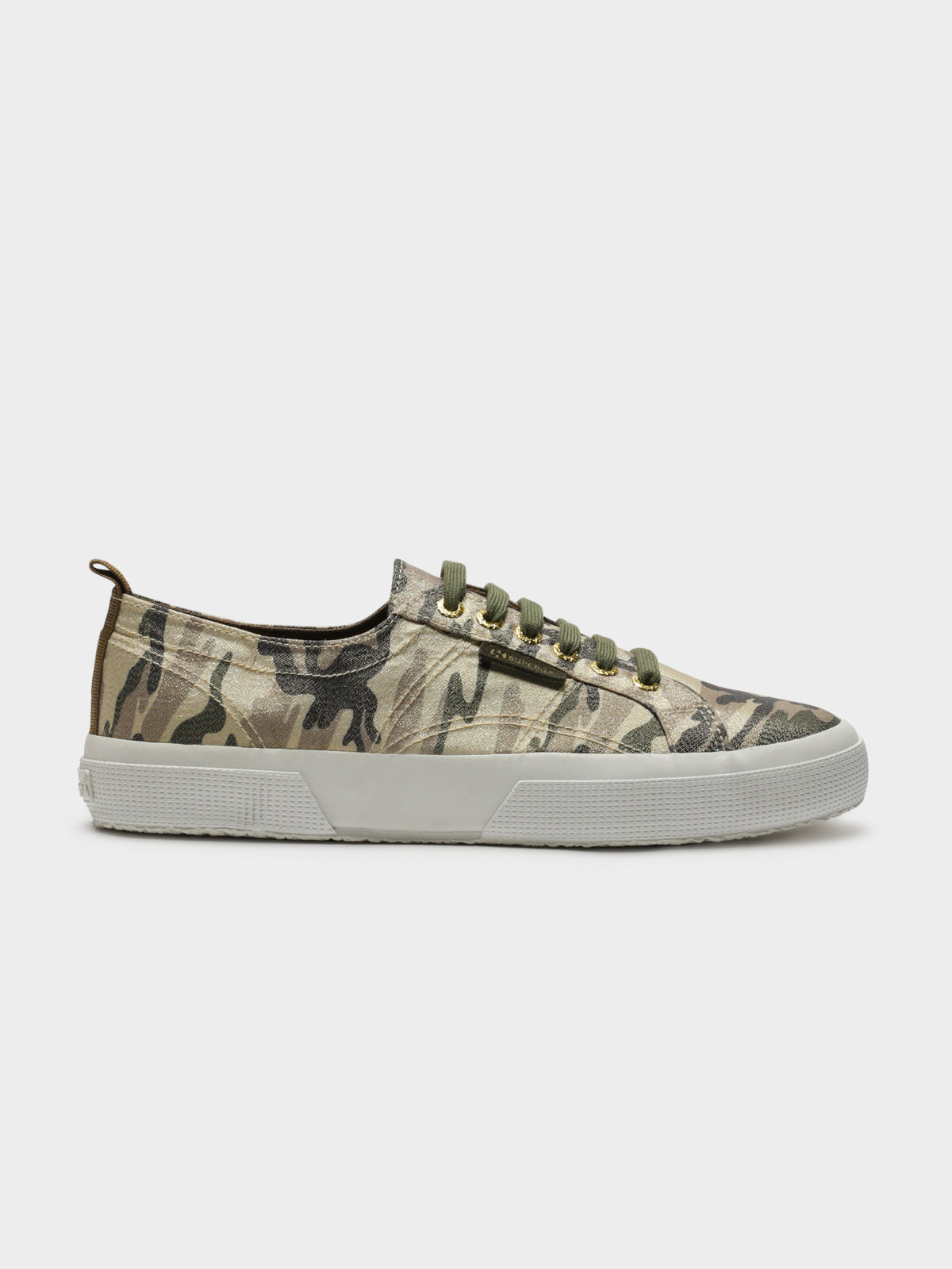 Womens 2750 Lamecamow Sneakers in Gold Camouflage