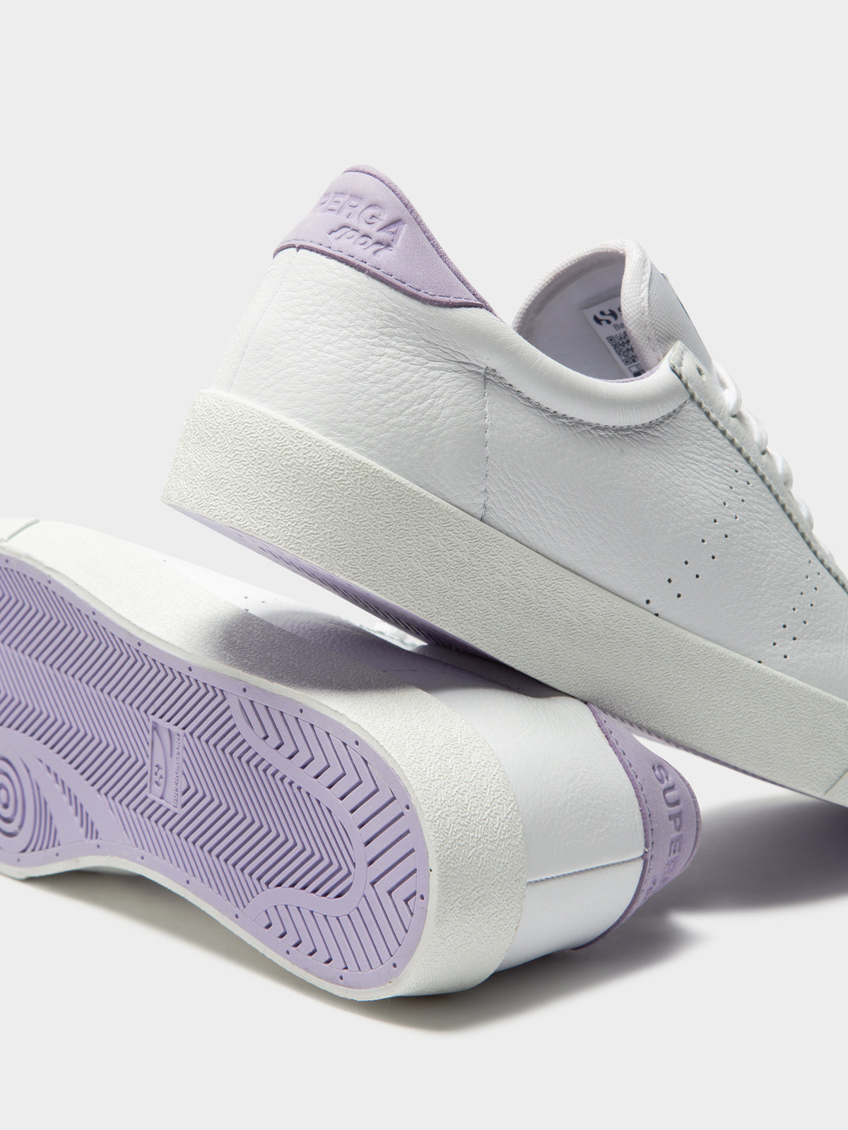 Womens 2843 Clubs Comfleau Sneakers in White & Violet