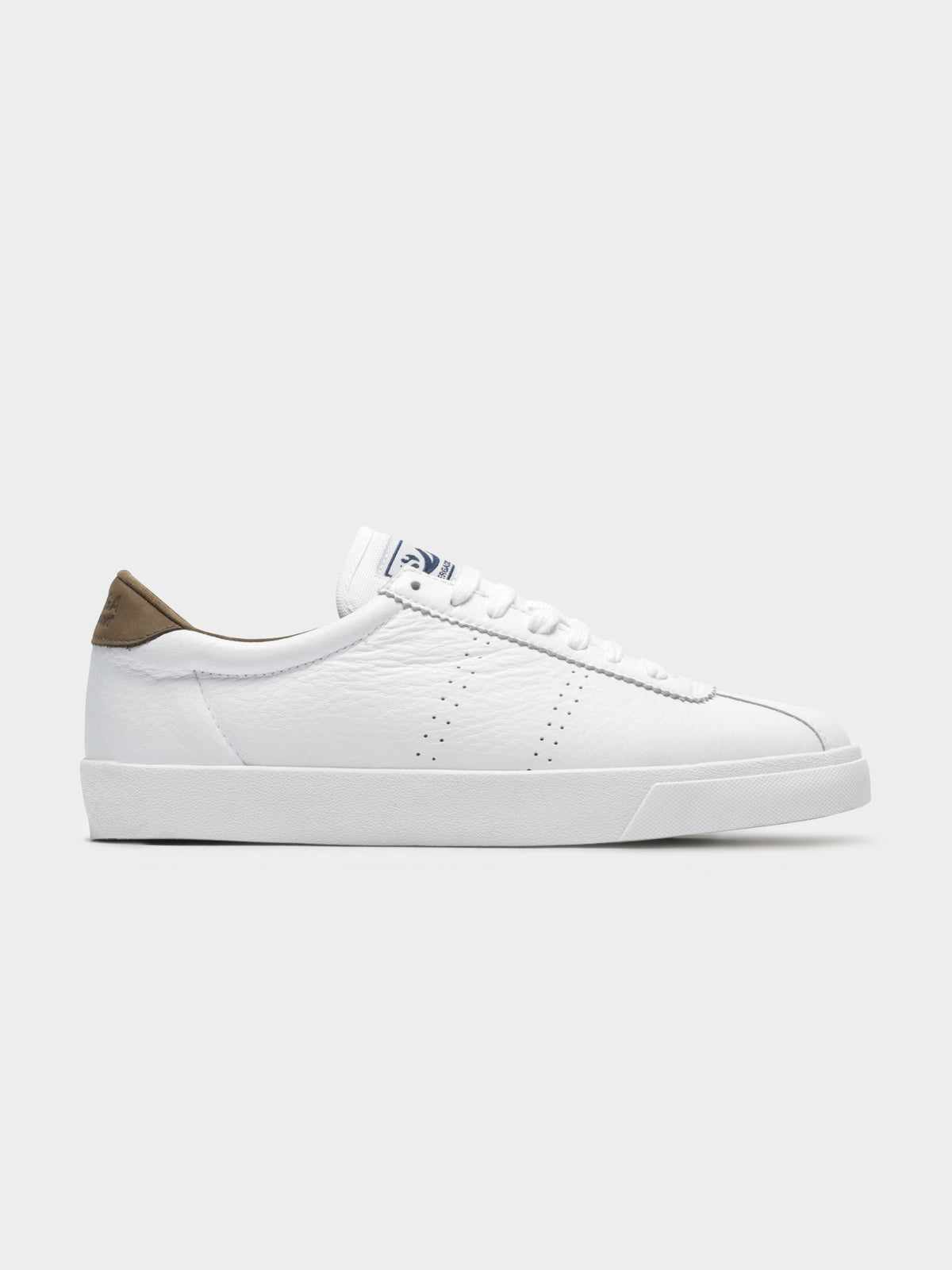 2843 Clubs Comfleau Sneakers in White & Khaki