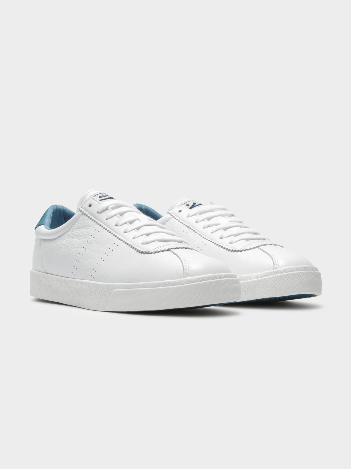 2843 Clubs Comfleau Sneakers in White & Blue