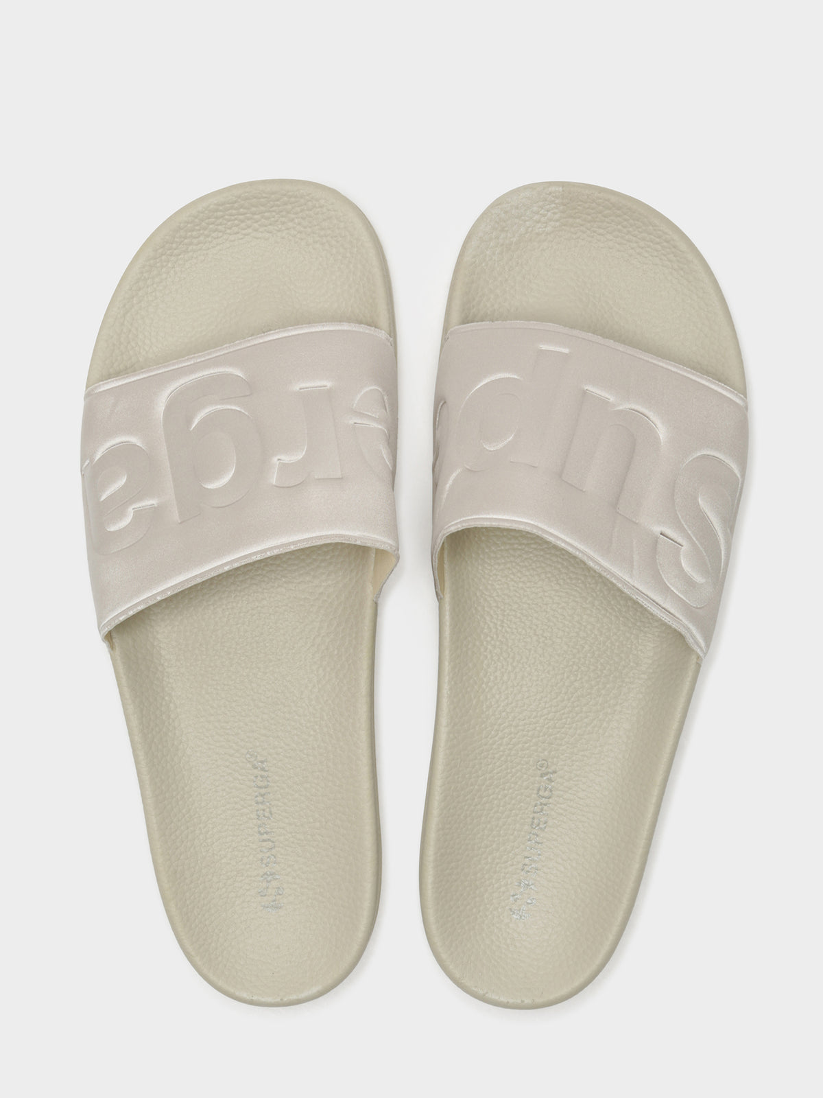 Womens 1908 Satin Slides in Beige