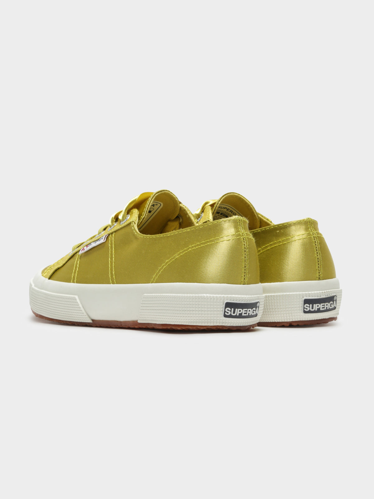 2750 Satin Sneakers in Green Lime