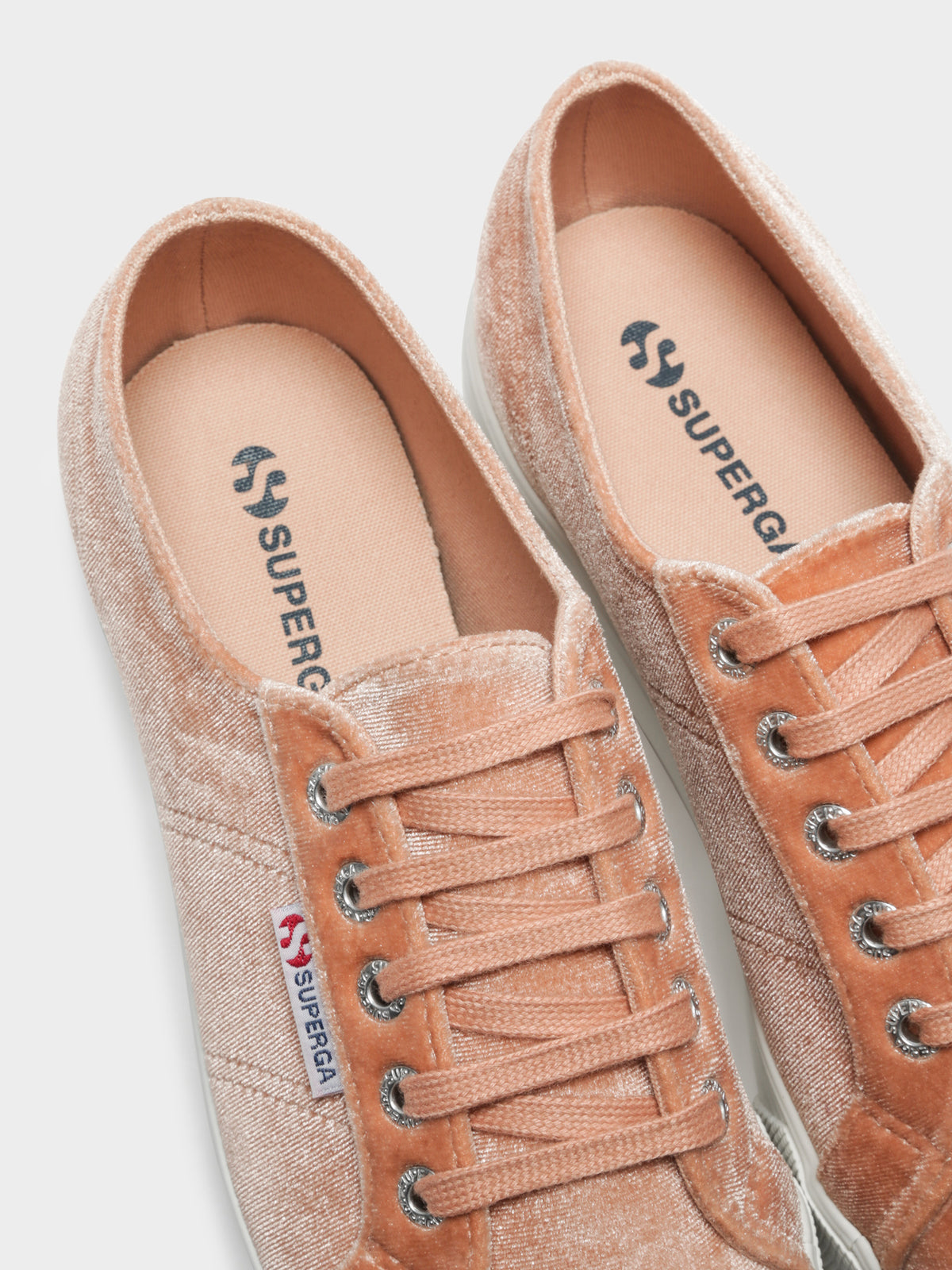 2790 Velvet Chenille Sneakers in Pink Dusty Coral