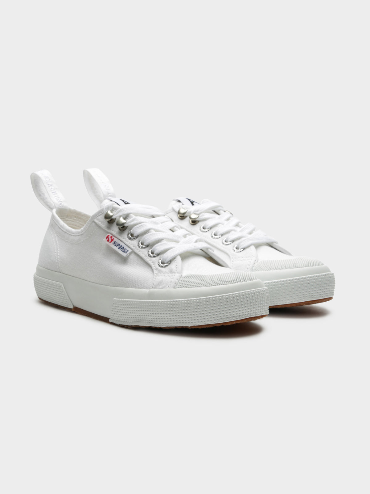 Alexa Chung Cot Hook Lace-Up Sneakers in White