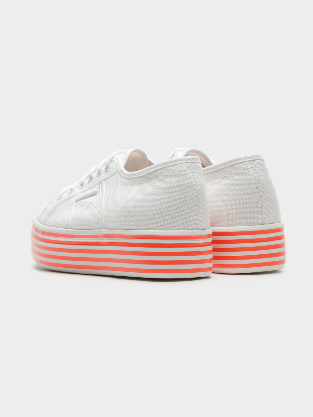 Womens 2790 Multicolor Cotw Stripe Sneakers in White & Pink