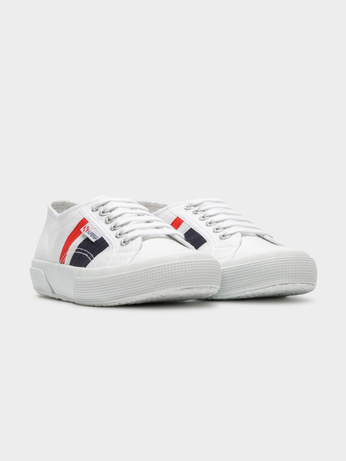 Womens 2750 Cotuflagside Sneakers in White Blue & Red