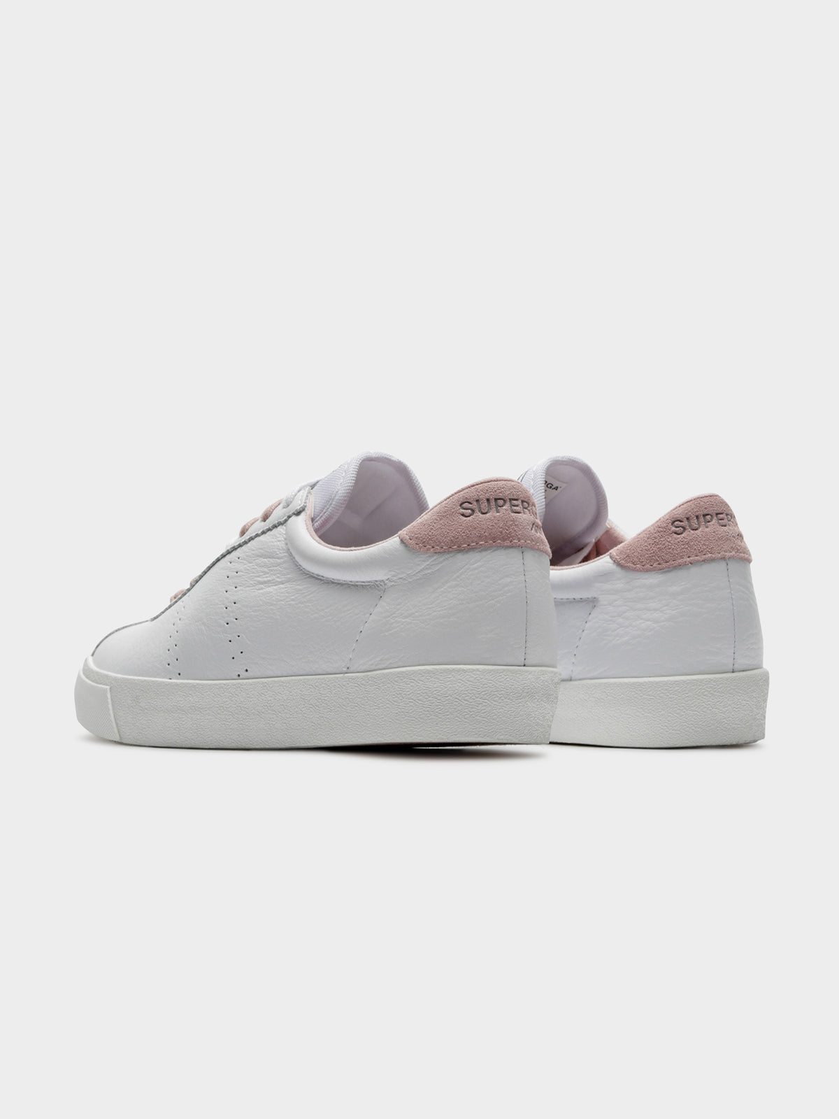 Womens 2843 Clubs Comfleasue Sneakers in White & Pink