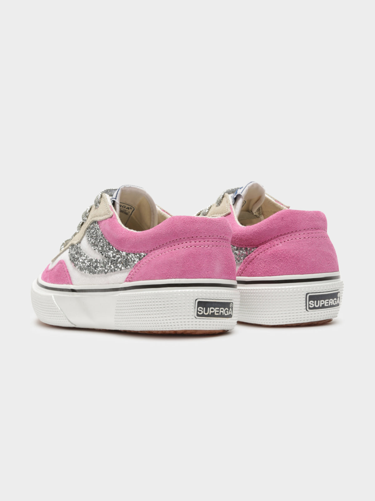 2941 Revolley Suecot Glitter Sneakers in Fuschia